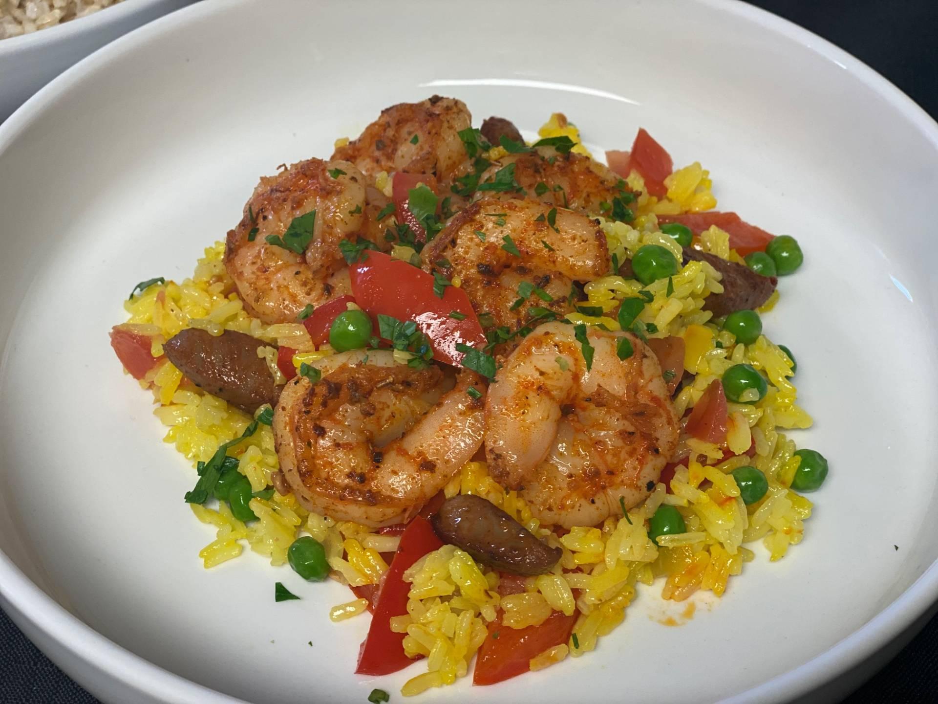 Grilled Shrimp Paella